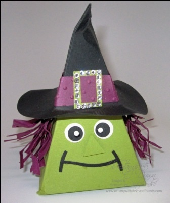 Stampin' Up!  Petal Cone  Sharon White  Halloween Witch