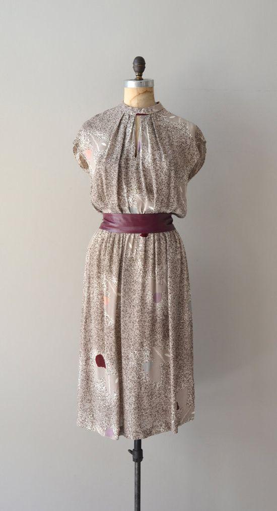 Ursa Major dress / vintage 70s dress / gray 70s by DearGolden, $54.00