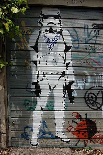 Street Art From a Gallery Far, Far Away #graffiti trendhunter.com