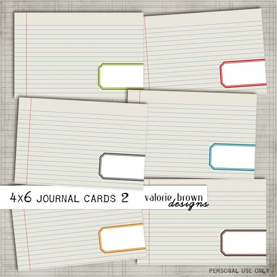 More Project Life Journaling Cards -- for free!