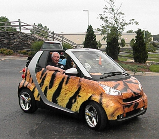 Smart Car National - Tiger Wrapped Smart Car - Car - Colorful