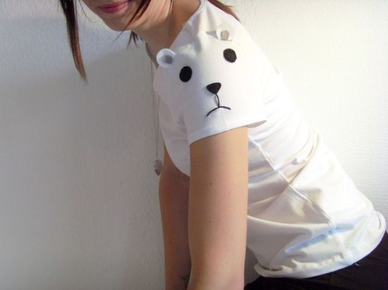 Animal face sleeves.  How cute is this?