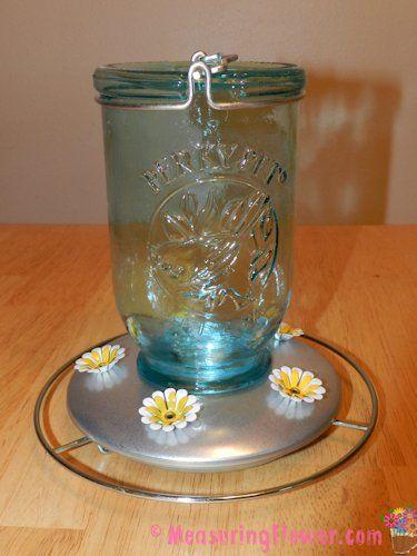 Mason Jar Hummingbird Feeder