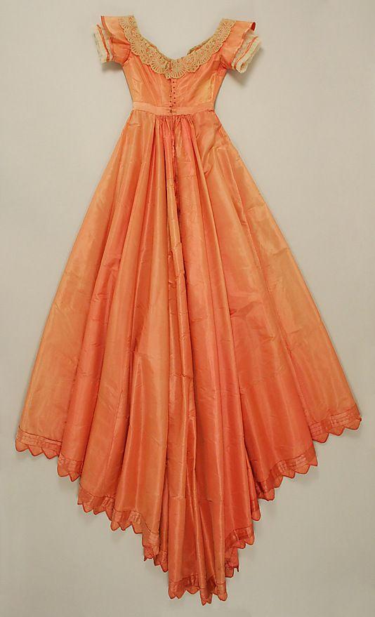 Evening dress 1867-68