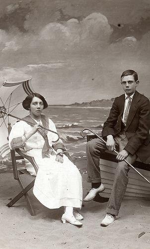 Eva and Cyril in Skegness by lovedaylemon, via Flickr