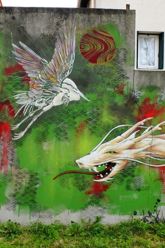 Vitry-sur-Seine - av Jean Jaurès - street art - TSF crew / stew / c215