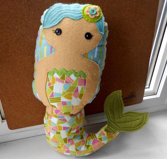 PDF Little Mermaid Matryoshka Doll PDF Sewing Pattern - Rag Doll - Pillow Doll
