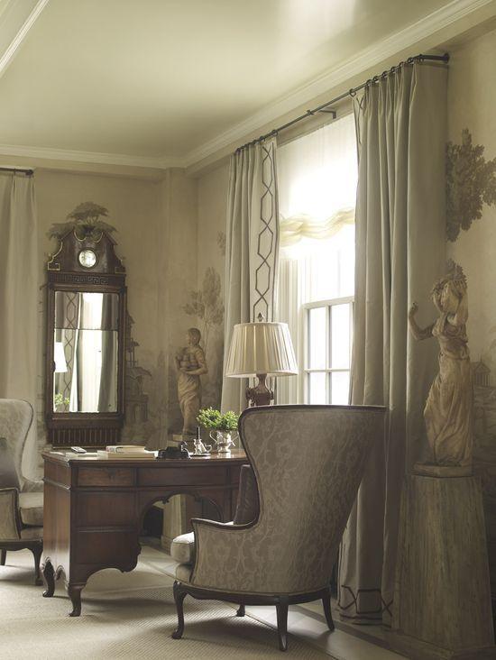 Drapery detail. Suzanne #home design #home interior design 2012