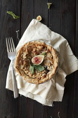 Fig and Goat Cheese Tart with Basil