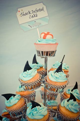 shark party! :: complete with wearable shark fins, an adorable candy table, and