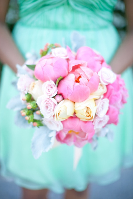 a whole lot of coral peony goodness in this bouquet  Photography by carolinefrostphot..., Floral Design by www.weddingflower...