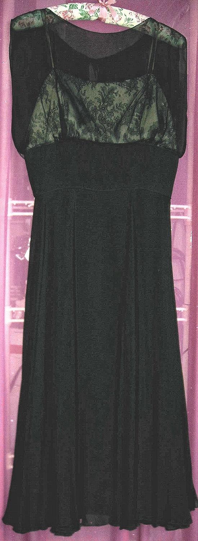 FRANK STARR, 1950s Vintage Black Cocktail DRESS