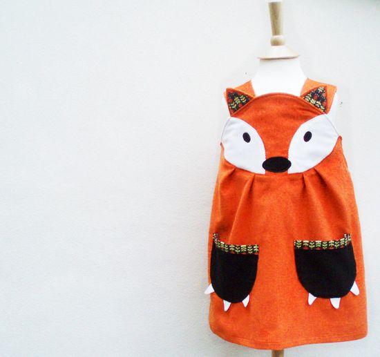 Fox Dress - Little girls play dress