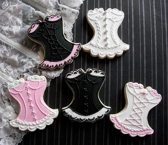 Corset Cookies for bachelorette party