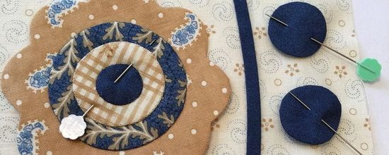 Making Applique Flowers with turned edges using Freezer Paper Template - Sharon Keightley Quilts