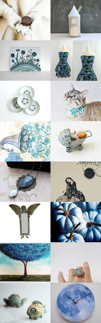 Tooth Fairy and the Blue Pumpkin by Savenna Zlatchkine on Etsy #etsy #vintage #handmade #gifts