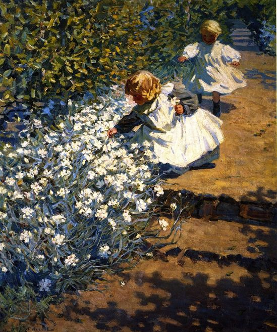 Picking Flowers (Helen Galloway McNicoll - )
