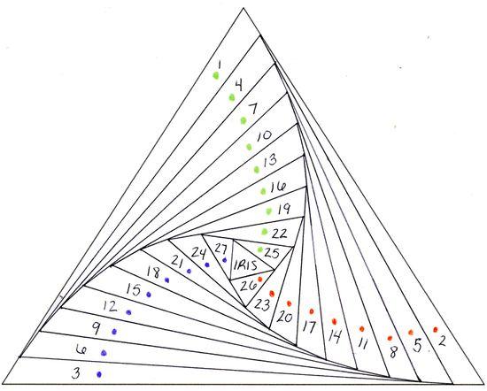Spiral triangle pattern