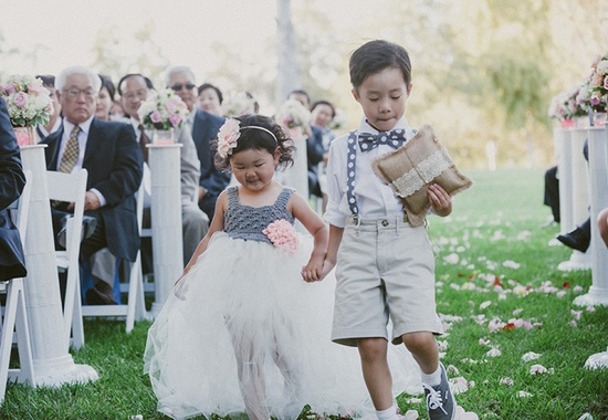 Flower Girl & Ring Bearer // Photo: Per Pixel Photography // TheKnot.com