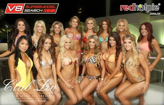 The sexy Miss V8 Supermodel 2013 finalists at the prejudging. #redhotpie #sexy #hot #bikini #models