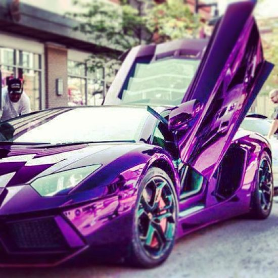 Purple mischief crazy Aventador!