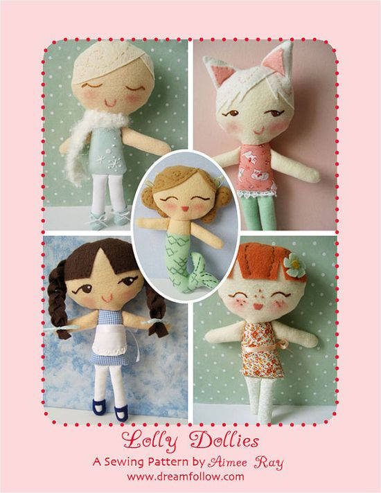 Lolly Dollies PDF sewing pattern by littledear on Etsy, $6.00