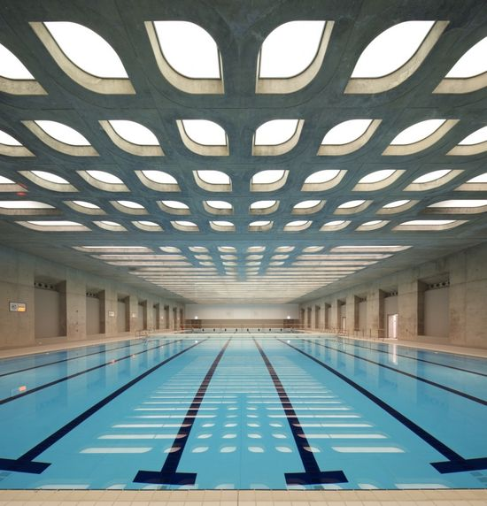 At the London Aquatics Centre for 2012 Summer Olympics by Zaha Hadid Architects #architecture