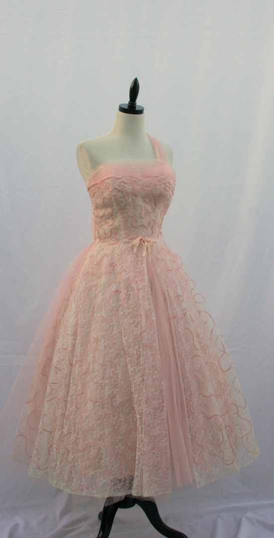 1950's Vintage Dress  PRINCESS Dreamy Lace by VintageFrocksOfFancy, $250.00