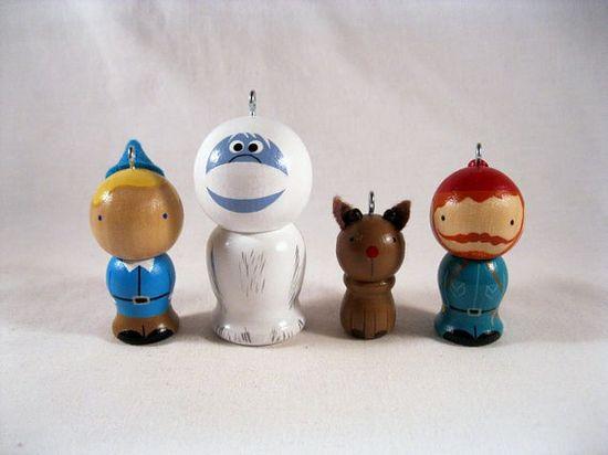 Misfit toys peg dolls