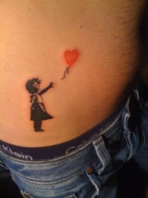 small women tattoos | Little Girl With Balloon