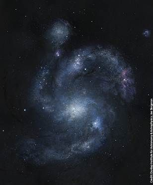Oldest spiral galaxy in universe discovered (Photo: Dunlap Institute for Astronomy & Astrophysics/Joe Bergeron)
