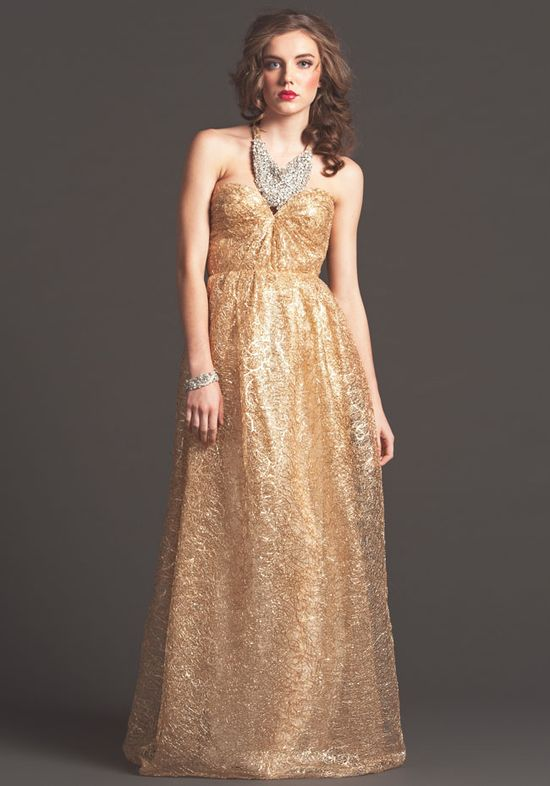 Gold wedding dress! From the Sarah Seven Fall 2013 Collection