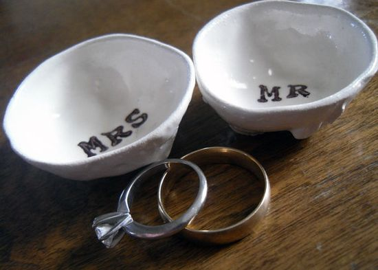 MR and MRS ring holder wedding pillow engagement by ElyciaCamille, $16.00