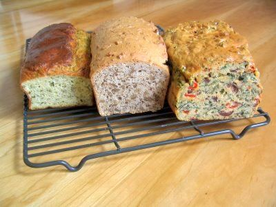 Olive Bread, Walnut Bread, Herb Bread