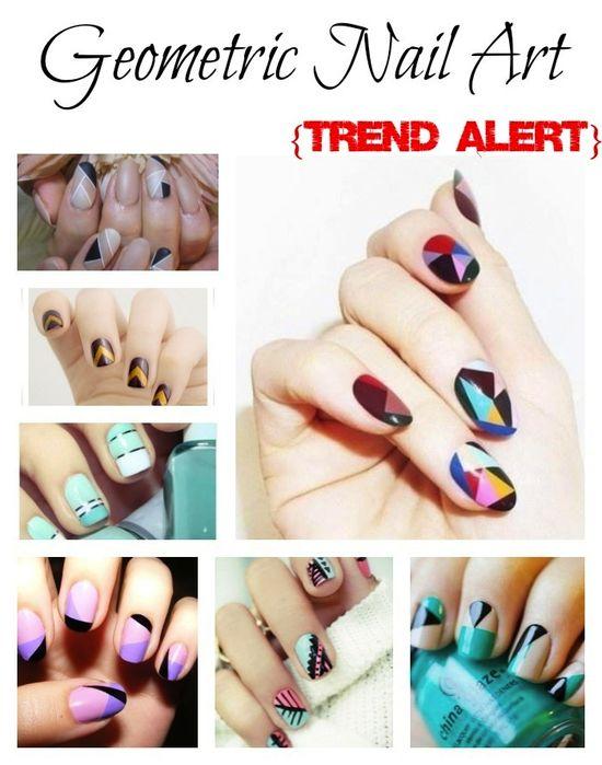 Nail Trend Alert: Geometric Nail Art l @Vera Kulikova Sweeney (Ladyandtheblog.com)
