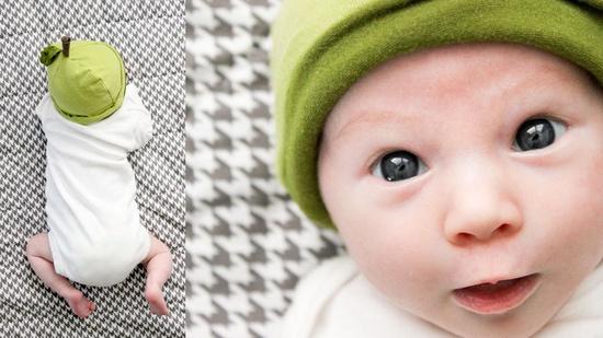 Cute baby! Cute hat!