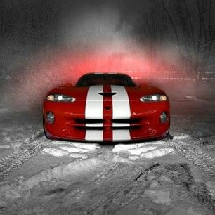Magnificent Red and white Dodge Viper! Mmmm