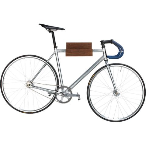 wood bike storage in storage