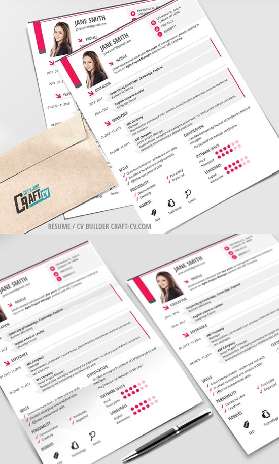 CraftCv - CV\/ Resume Builder (craftcv) Pinterestissä - creative resume builder