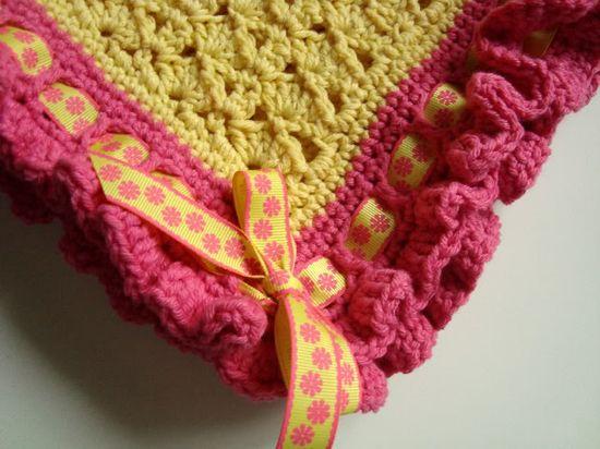 Ribbon & Ruffles Blanket pattern