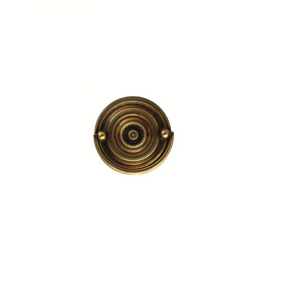 Hickory Hardware 2-1/4 in. Brown Windsor Antique Furniture Back and Bail Pull-469999165 at The Home Depot