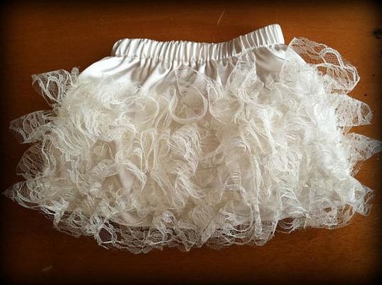 Ruffle lace skirt