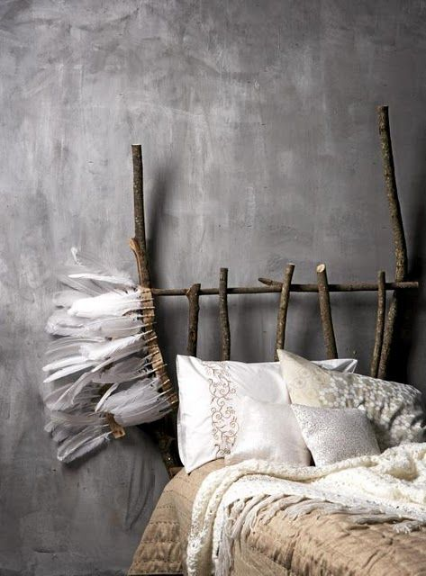 love the look of the wall behind it... so much texture and think it is chalkboard paint?