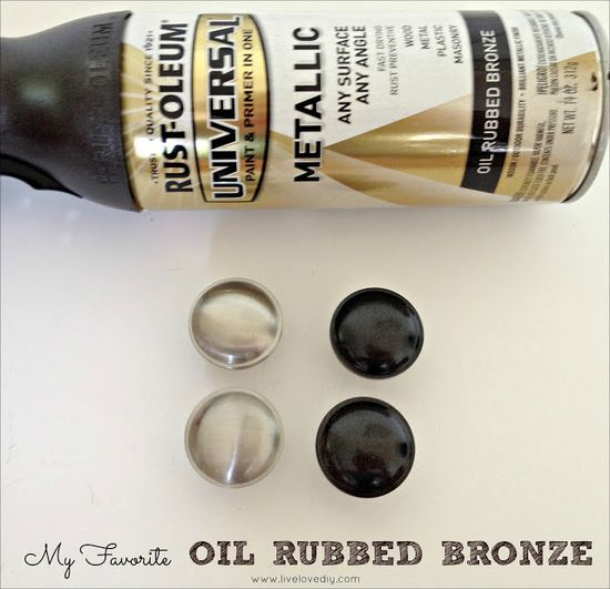 The secret to updating old brass doorknobs and hardware! Great tips!