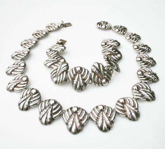 Vintage Necklace Bracelet Los Ballesteros by zephyrvintage on Etsy, $375.00