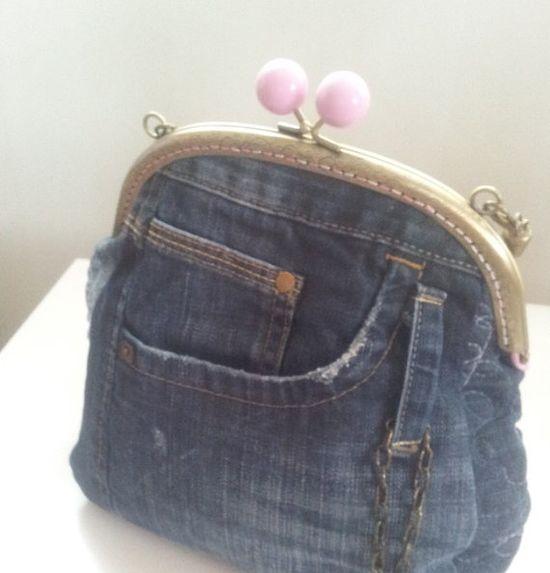 Denim purse hand bag