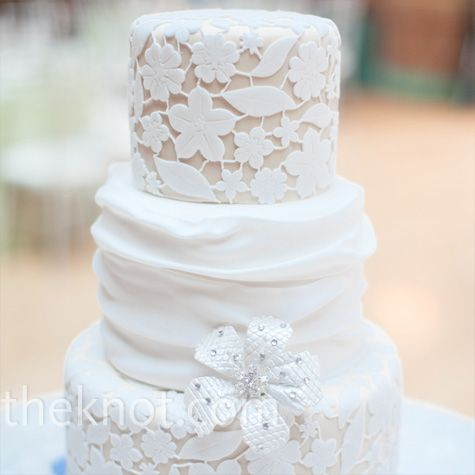 Floral Lace Inspired Wedding Cake