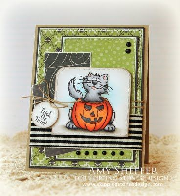 Great Halloween Card...in not so Halloween Colors!