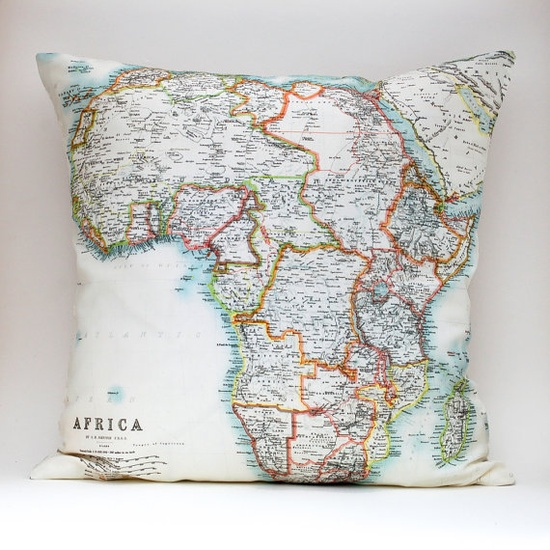 I'd love a map pillow somewhere in the house
