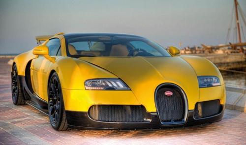 Yellow Bugatti